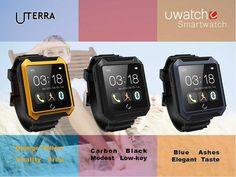 UTerra 1.6 Inch 64MB IP68 Bluetooth 4.0 Intellingent Smart Watch