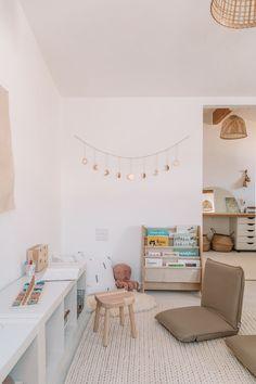Playroom Table, Playroom Furniture, Playroom Storage, Playroom Decor, Playroom Ideas, Office Playroom, Room Organization, Furniture Ideas, Waldorf Playroom