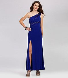 Hailey Logan OneShoulder Sequin ITY Dress #Dillards