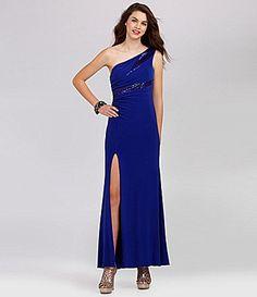 Hailey Logan OneShoulder Sequin ITY Dress #Dillards