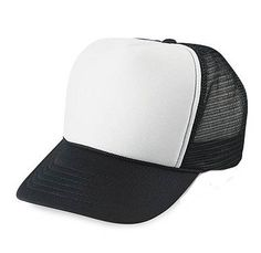 a171d8cd3a3 Toddler Children s Mesh Trucker Snapback Hat in Black and White