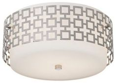 Jonathan Adler Parker Nickel Ceiling Light - contemporary - ceiling lighting - Lamps Plus