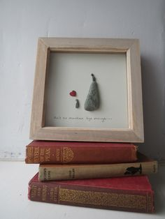 Ain't no mountain high enough, pebble art, gift for loved one, mountains.