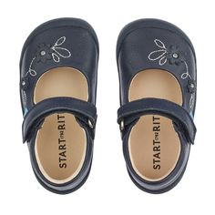 Startrite First Chelsea Black Glitter Patent Girls Boot