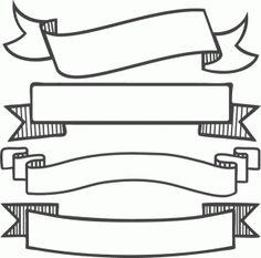Banner Set SVG scrapbook banners svg cut filesbanners svg files free svgs free svg cuts clipart clip art by Leon TheWizard Devaney Silhouette Design, Silhouette Cameo, Silhouette Projects, Silhouette Store, Banner Clip Art, Ribbon Banner, Cute Clipart, Clipart Images, Svg Cuts