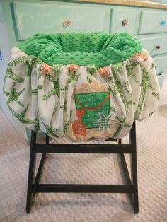 Starfish Shopping Cart and High Chair Cover by TWINSANDQUINN, $55.00