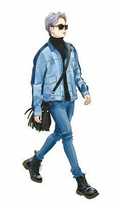 Jimin Fanart, Kpop Fanart, Bts Anime, Anime Guys, Bts Bigbang, Bts Drawings, Bts Chibi, Bts Fans, Bts Lockscreen