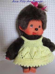 Kiki Peluche, Madame, Monkey, Crochet Hats, Knitting, Etsy, Fashion, Happy, Souvenirs