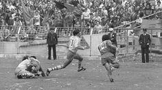 En demi, en 1984, les Auvergnats durent accepter la domination de Béziers, filant vers son troisième titre de rang, le 10ème en 13 ans ! (Crédit photo: Presse Sports)