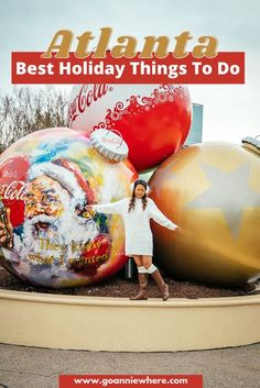 It's the most magical time of the year in Atlanta! Check out these fun holiday things to do in Atlanta around Christmas time! #exploreGeorgia #AtlantaGeorgia #Atlanta #AtlantaHolidays #GeorgiaUSA #travelUSA #visittheUSA #USATravel #Georgia