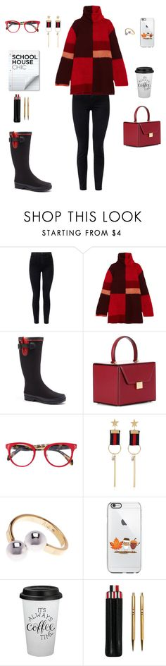 """""""Ready for finals!"""" by sebolita ❤ liked on Polyvore featuring J Brand, Roksanda, Forever Young, Victoria Beckham, Prada, WithChic, Rebecca Minkoff and Thom Browne"""