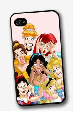 Disney Characters Princess Funny Joke Iphone 4 / 4s /5 Case Cover Mobile Phone