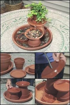 Water Feature Project: How To Build A Terra Cotta Fountain  http://theownerbuildernetwork.co/gzjn     Turn a few flower pots into this attractive terra cotta fountain that's simple to make.  It let's you enjoy the sound of trickling water, and is great either on a table or in a corner of your garden.  Could this be your next weekend project?