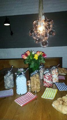 Sweet jars at wedding party