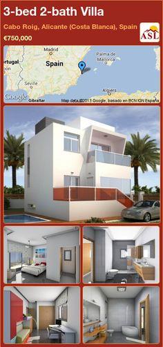 3-bed 2-bath Villa in Cabo Roig, Alicante (Costa Blanca), Spain ►€750,000 #PropertyForSaleInSpain