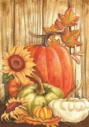Pumpkins on Barnwood Decorative House Flag Fall Garden Flag, Garden Flag Stand, Autumn Garden, Garden Flags, Fall Canvas Painting, Autumn Painting, Autumn Art, Fall Paintings, Pumpkin Pictures