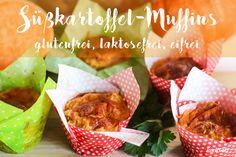 Herzhafte Süßkartoffel-Muffins – variables Rezept – glutenfrei, laktosefrei, eifrei, nussfrei, sojafrei optional vegan
