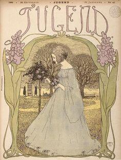 Cover illustration by Heinrich Vogeler for 'Jugend' magazine nr. 40, 1899. Source
