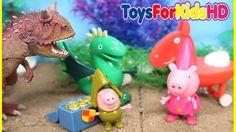 Peppa la Cerdita en Español  Videos de Dinosaurios para niños  Peppa Pig El Dragón de George
