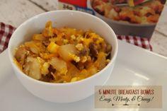 5 Minute Breakfast Bowls - #RedboxBreakfasts #PMedia #ad