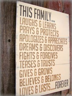 Love this FAMILY sign!