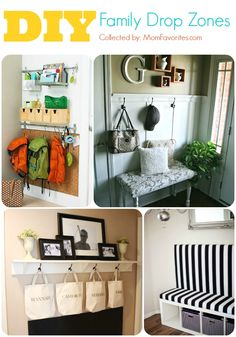 #ThisNewHouse Collection: DIY Family Drop Zones