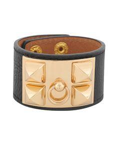Rocker Leatherette Bracelet