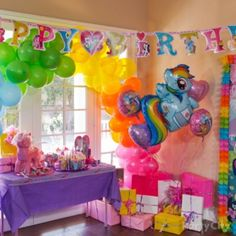 Throwing a My Little Pony party? These colorful ideas will help you throw the best and brightest birthday party ever. My Little Pony Party, Cumple My Little Pony, My Lil Pony, Little Girl Birthday, Anniversaire Rainbow Dash, Anniversaire My Little Pony, Rainbow Dash Party, 5th Birthday Party Ideas, Birthday Decorations