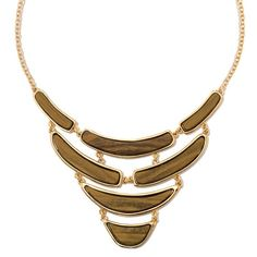 The look of tiger's-eye creates a style that is sleek and super-unique. Dramatic, layered-look goldtone collar necklace with 4 rows of rectangular faux tiger's eye stones. Regularly $24.99, buy Avon Jewelry online at http://eseagren.avonrepresentative.com