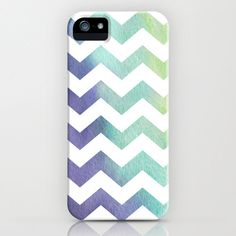 Geometric iPhone 5 Case - Chevron Tribal Watercolor Painting - Abstract Art - Designer Cell Phone Cover  - iPhone 5 4 4s 3g Case