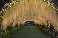 Outdoor event white and green theme Wedding Walkway, Wedding Stage Backdrop, Wedding Backdrop Design, Wedding Stage Design, Wedding Hall Decorations, Marriage Decoration, Wedding Entrance, Wedding Mandap, Wedding Receptions
