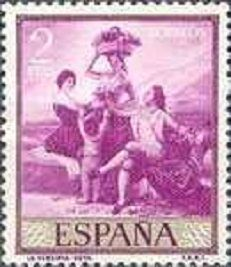 Spain GOYA NUDE Perfect Mint W GUM UNUSED STAMP