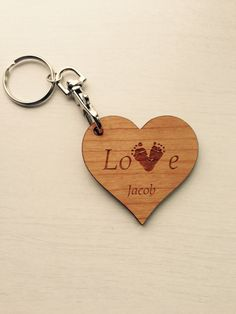 Your child's footprint on a love heart keyring £6 https://www.etsy.com/shop/tinytoescraftcreate1