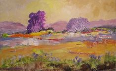 Dam Violet Trees in the Paintings category was listed for on 5 Oct at by Louis Pretorius in Cape Town Landscape Art, South Africa, Original Paintings, African, Canvas, Artist, Workshop, Atelier, Canvases
