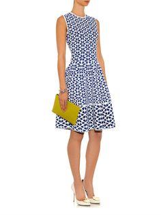 Alexander McQueen Floral-jacquard dress