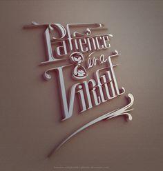 Patience is a virtue by Gabriela , via Behance