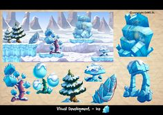 Big geometric shapes! and again, bevel the living jesus out of everything. Ice Paradise by Javas