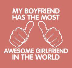 Shirt For Womens Shirt Awesome Girlfriend T-Shirt Girl Boy Shirt Clothing Clothes Birthday Gift Best Gift For Boyfriend Teen Teenager. $13.50, via Etsy.#boyfriend #friend #girlfriend #awesome