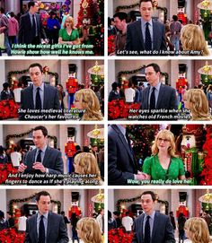 Bernadette helping Sheldon shop for Amy