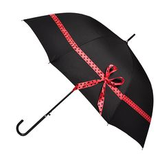 Breakfast at tiffany's umbrella | Black/red by Gummie Boots on POP.COM.AU