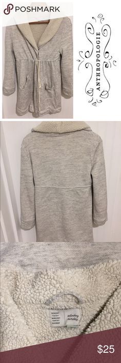 Anthropologie Saturday Sunday sherpa lined robe Size medium. Worn a handful of times but still in good condition. Super warm and cozy. Anthropologie Intimates & Sleepwear Robes