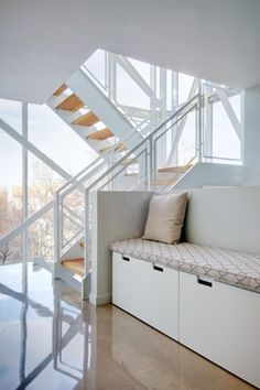 My Houzz: Urban Tower - contemporary - staircase - toronto - Andrew Snow Photography