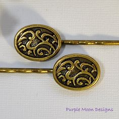 Bronze Bobby Pin  Celtic Hair Pin  Bronze by PurpleMoonDesigns