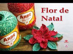Flor de Natal - passo a passo - Professora Simone #Crochet - YouTube