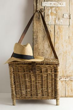 Vintage French Fishing Basket Creel by CrolAndCo on Etsy