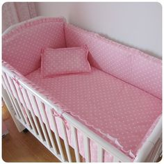 42.80$  Watch now - http://ali3g1.shopchina.info/1/go.php?t=32367164065 - Promotion! 6PCS Pink Newborn Baby Bed Set,Both Safety and Healthy Kids Accessory (bumper+sheet+pillow cover) 42.80$ #magazineonlinebeautiful