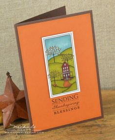 Thanksgiving Blessings Card by Nichole Heady for Papertrey Ink (August 2012)