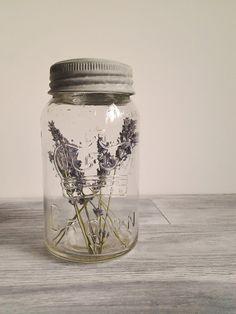 Vintage Mason Jar with Lavender