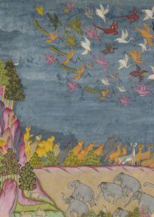 Détail de : Le rapt de Sita par Ravaa, École du Rajasthan, Jodhpur, vers 1775. Gouache et or sur papier. Mehrangarh Museum Trust, Jodhpur. http://www.ramayanabook.com/