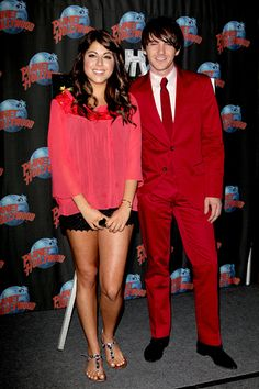 Drake Bell and Daniella Monet at A Fairly Odd Movie event